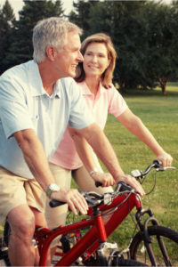 Senior couple with financial security